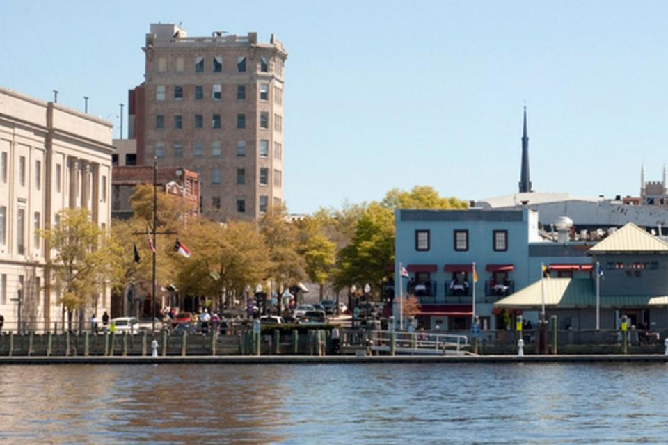 Water front buildings in Wilmington, NC